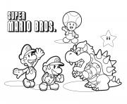 super mario bros avec browser dessin à colorier