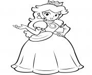 princesse daisy de super mario bros dessin à colorier