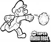 super mario bros 2 lance boule de feu dessin à colorier
