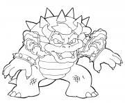 bowser pret au combat contre mario bros by koffinkats1 dessin à colorier