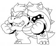 bowser recupere sa force dessin à colorier