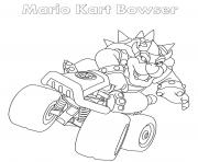 Bowser Mario Kart dessin à colorier