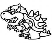 bebe bowser quand il etait enfant dessin à colorier
