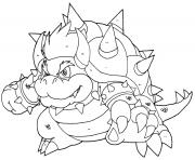 le grand bowser en forme dessin à colorier