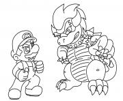 super mario bros vs bowser dessin à colorier