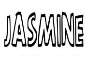 Jasmine dessin à colorier
