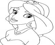 Princesse Disney Jasmine dessin à colorier