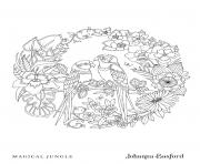 Coloriage Adulte Love Birds From Magical Jungle