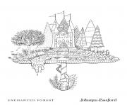 Adulte Toadstool Castle From Enchanted Forest dessin à colorier