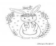 Petit Lapin Adorable Pour Paques Enfants dessin à colorier