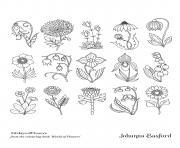 Adulte Le Monde Des Fleurs 2 dessin à colorier