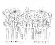 Le Monde Des Fleurs 6 dessin à colorier
