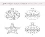 Johannas Xmas Ornaments Pour Adulte dessin à colorier