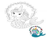 Coloriage mythical animal licorne dessin