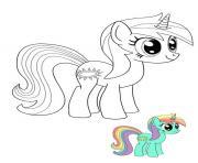 Twilight Sparkle My Little Pony licorne dessin à colorier