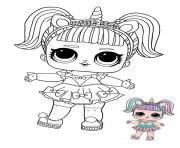 LOL Surprise Licorne dessin à colorier