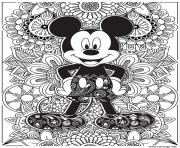 Coloriage disney adulte mcieky mouse