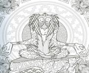 rafiki roi lion disney adulte dessin à colorier