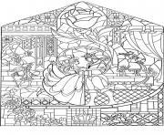 disney adulte princesse et prince dessin à colorier