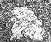 raiponce disney adulte dessin à colorier