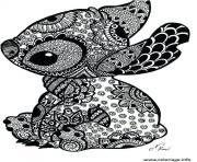 stitch disney adulte difficle comlexe dessin à colorier