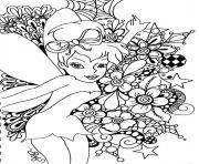 princesse ariel la fee disney adulte dessin à colorier