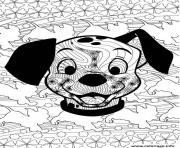dalmatien de disney adulte dessin à colorier