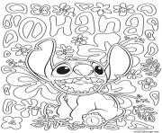 Coloriage stitch disney adulte