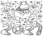 Coloriage disney nouvel an 30 dessin