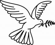 colombe pour la journee mondiale de la paix dessin à colorier