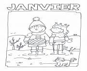 janvier gs galette des rois dessin à colorier