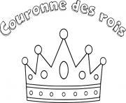 couronne des rois dessin à colorier