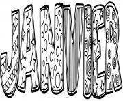 janvier texte maternelle dessin à colorier