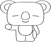 funko pop bt21 koya dessin à colorier