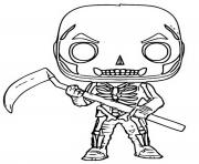 funko pop fortnite skull trooper dessin à colorier