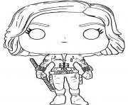 funko pop marvel avengers infinity war black widow dessin à colorier