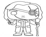 Coloriage funko pop marvel deadpool clown dessin