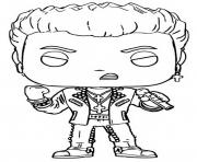 funko pop rock billy idol dessin à colorier