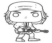funko pop rock ac dc angus young dessin à colorier