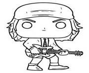 funko pop rock ac dc angus young dessin à colorier