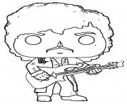 funko pop rock prince purple rain dessin à colorier