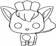 Coloriage funko pop pokemon evoli dessin