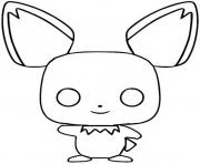 funko pop pokemon pichu dessin à colorier