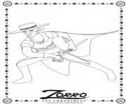 la legende de zorro dessin à colorier
