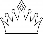 couronne de reine des neiges dessin à colorier