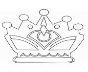 couronne des rois epiphanie dessin à colorier