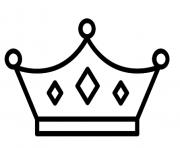 couronne simple facile dessin à colorier