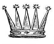 couronne galette des rois dessin à colorier