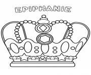 couronne epiphanie dessin à colorier