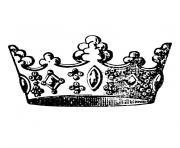 couronne roi dessin à colorier